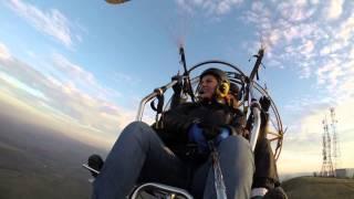 Moto hang glider flight